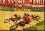 Velodrome du Mont Stretched Canvas Print by Marcellin Auzolle