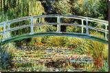 Japansk bro i Giverny Le Pont Japonais a Giverny Sträckt kanvastryck av Claude Monet