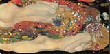 Vattenormar II, ca 1907 Sträckt kanvastryck av Gustav Klimt