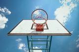 Street Basketball Trykk på strukket lerret av Win Nondakowit