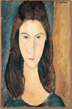 Porträt von JeanneHébuterne Bedruckte aufgespannte Leinwand von Amedeo Modigliani