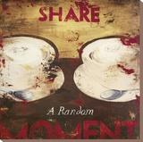 Share A Random Moment Bedruckte aufgespannte Leinwand von Rodney White