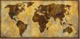 Carte du monde Toile tendue sur châssis par Paul Duncan