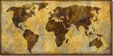 World Map Stretched Canvas Print by Paul Duncan