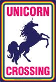 Unicorn Crossing Placa de lata
