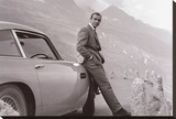 James Bond - Aston Martin Bedruckte aufgespannte Leinwand
