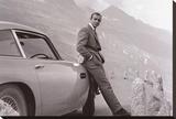 James Bond met Aston Martin Kunst op gespannen canvas