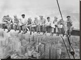 Almuerzo en lo alto de un rascacielos, c.1932 Reproducción de lámina sobre lienzo por Charles C. Ebbets