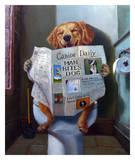 Dog Gone Funny Poster by Lucia Heffernan