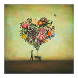 Big Heart Botany Kunstdruck von Duy Huynh