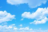 Blue Sky Background with a Tiny Clouds Fotografisk trykk av Vitaliy Pakhnyushchyy