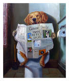 Dog Gone Funny Poster von Lucia Heffernan