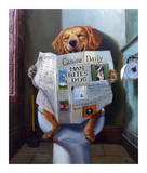 Dog Gone Funny Print by Lucia Heffernan