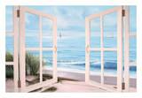 Sandpiper Beach Door Posters av Diane Romanello