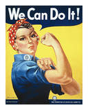Rosie the Riveter Stampe di Miller, J. Howard