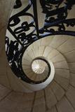 Palais Jacques-Coeur, escalier de la tour centrale du corps de logis (détail) Reproduction photographique par Philippe Berthé