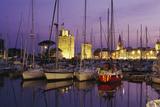 Port de la Rochelle au crépuscule Reproduction photographique par Philippe Berthé