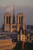 Cathédrale Notre-Dame de Paris, façade occidentale Photographic Print by Michel Setboun