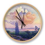 Pink Clouds, C.1896 Clock by Henri Edmond Cross