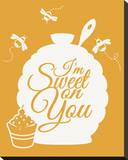 I'm Sweet On You Stretched Canvas Print by Sasha Blake