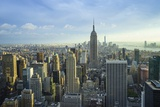 Manhattan Skyline with the Empire State Building, New York City Reproduction photographique par Fraser Hall