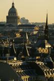 Vue sur les toits de Paris et le dôme du Panthéon Photographic Print by Michel Setboun