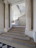 Château de Maisons, grand escalier vu depuis le vestibule central Reproduction photographique par Philippe Berthé