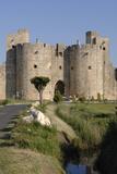 Tours et remparts d'Aigues-Mortes, front sud, porte de la Marine Reproduction photographique par Philippe Berthé