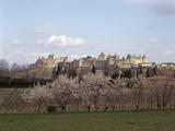 Cité de Carcassonne, front occidental Reproduction photographique par Philippe Berthé