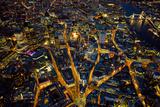 Aerial View of London at Night Fotografie-Druck von Jason Hawkes