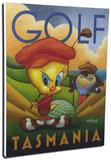 Golf Tasmania Stretched Canvas Print