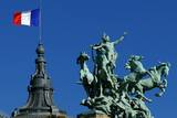 French Flag Impressão fotográfica por Hans Peter Merten