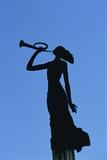 Statue, Woman, Laisves Aleja Avenue, Promenade, Kaunas, Lithuania Photographic Print by Dallas and John Heaton