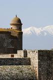 Fort de Salses, courtine nord et partie sommitale du donjon Reproduction photographique par Philippe Berthé