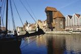 Crane Gate, Motlawa Canal, Old Town, Gdansk, Poland Photographic Print by Dallas and John Heaton