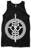 Tank Top: Sleeping With Sirens - White Symbol Canotta