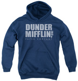 Youth Hoodie: The Office - Dunder Mifflin Distressed Pullover Hoodie