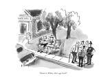 """Damn it, Wilbur, that's our bench!"" - New Yorker Cartoon Impressão giclée premium por Barney Tobey"
