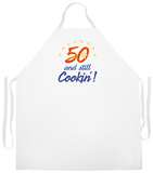 50 And Still Cookin Apron Forkle