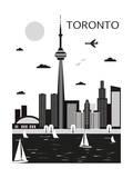 Toronto. Canada. Vector Pôsteres por  Ladoga
