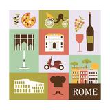 Symbols of Rome. Vector Posters por  Ladoga