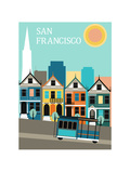 San Francisco California. Poster von  Ladoga