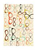 Seamless Background from Sunglasses. Kunstdrucke von  Ladoga