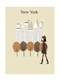 Woman in New York Posters por  Ladoga