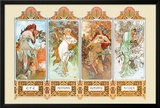 Mucha The Four Season Poster by Alphonse Mucha