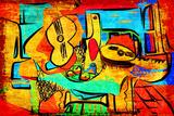 Picasso Style Giclée-Druck von cheng qin