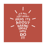 Light Bulb with a Quote Poster por  Ladoga