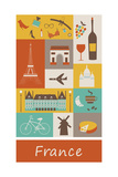 France. Vector Posters por  Ladoga