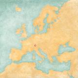 Map of Europe - Liechtenstein (Vintage Series) Prints by  Tindo