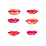 Lips. Fashion Illustration Print by Anna Ismagilova